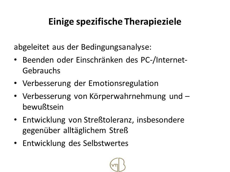 Einige spezifische Therapieziele