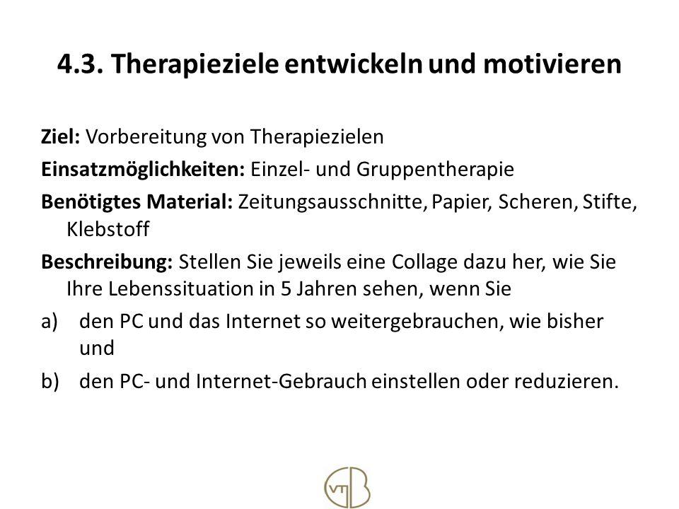 4.3. Therapieziele entwickeln und motivieren