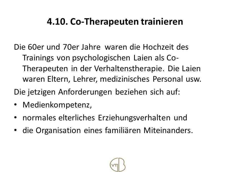 4.10. Co-Therapeuten trainieren