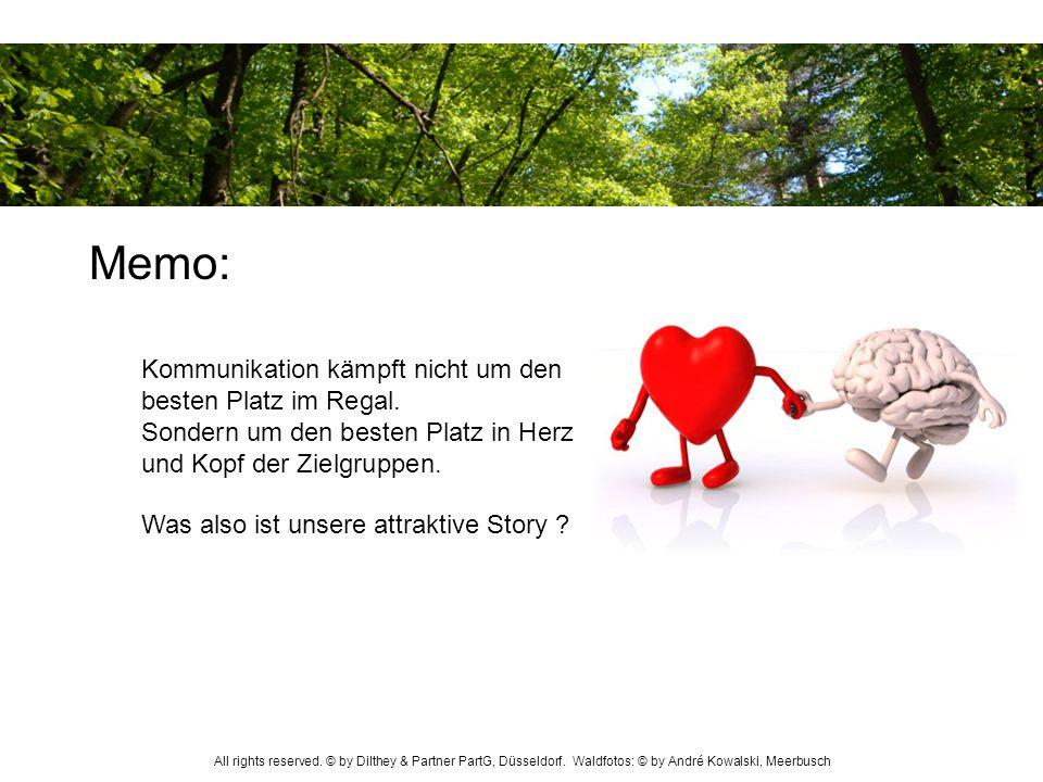 Memo: Kommunikation kämpft nicht um den besten Platz im Regal. Sondern um den besten Platz in Herz und Kopf der Zielgruppen.