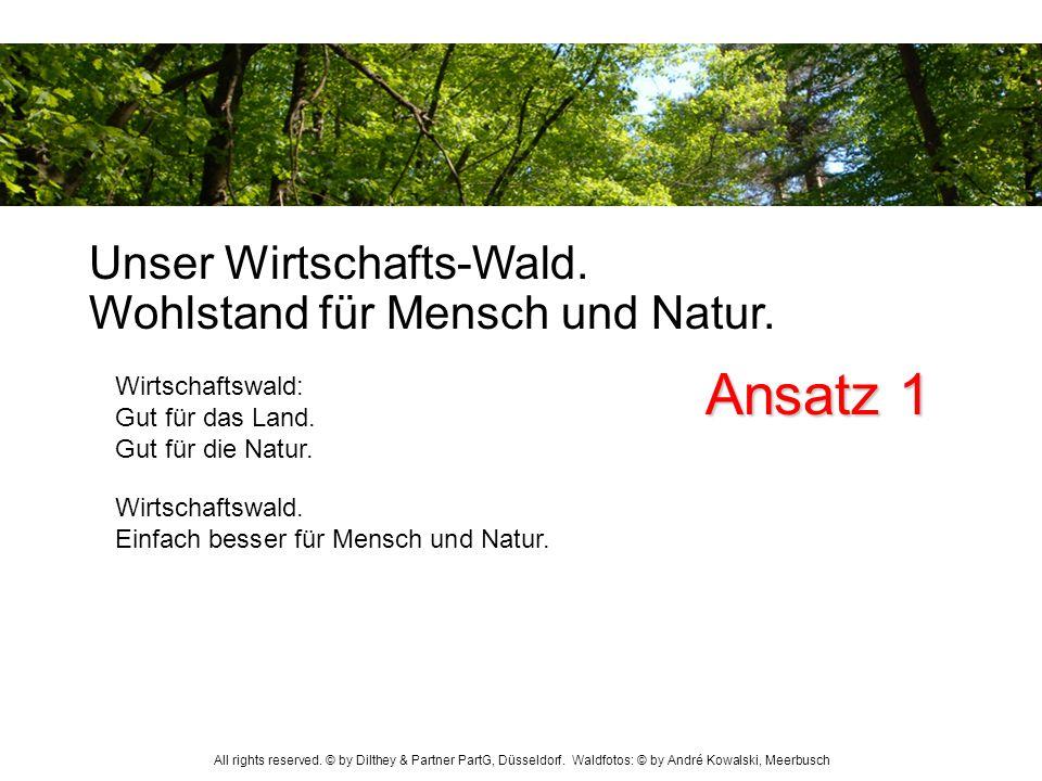 Ansatz 1 Unser Wirtschafts-Wald. Wohlstand für Mensch und Natur.