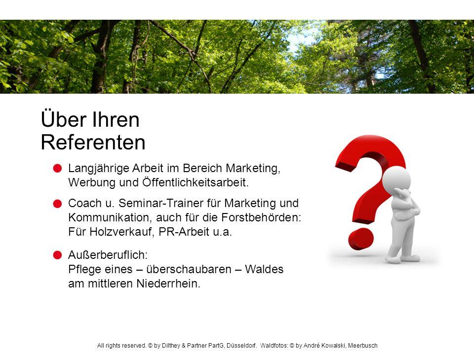 Über Ihren Referenten Langjährige Arbeit im Bereich Marketing, Werbung und Öffentlichkeitsarbeit.
