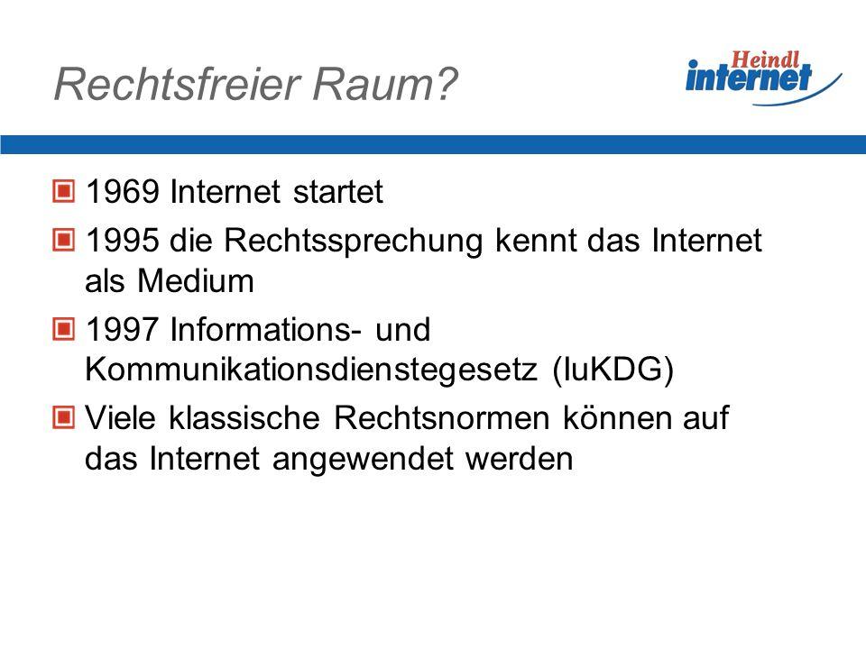 Rechtsfreier Raum 1969 Internet startet