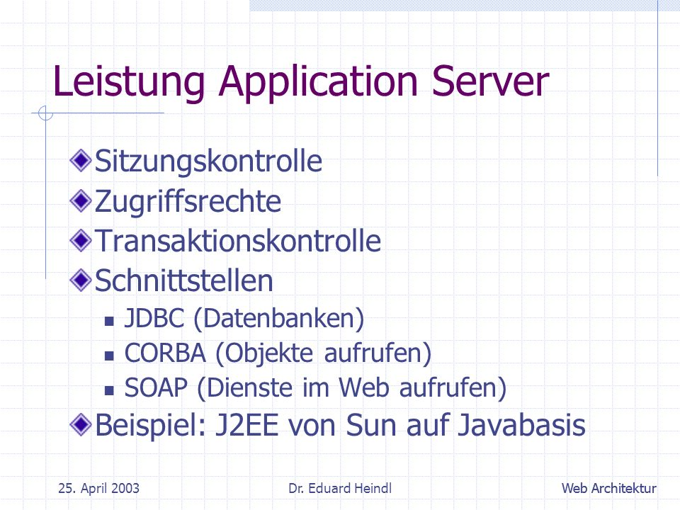 Leistung Application Server