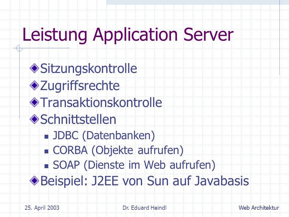 Leistung Application Server