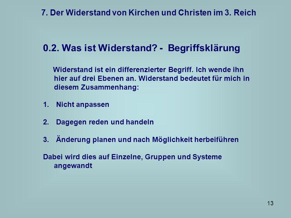 7. Der Widerstand von Kirchen und Christen im 3. Reich