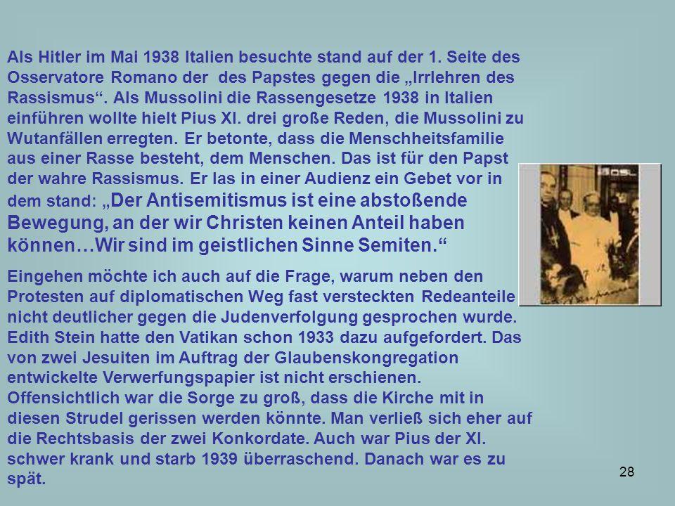 Als Hitler im Mai 1938 Italien besuchte stand auf der 1