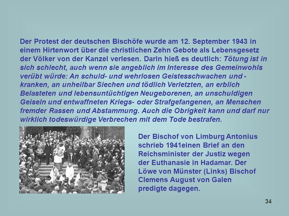 Der Protest der deutschen Bischöfe wurde am 12