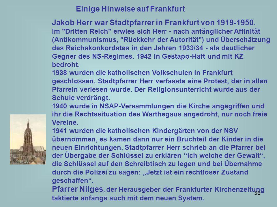 Einige Hinweise auf Frankfurt