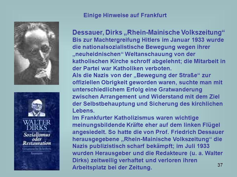 """Dessauer, Dirks """"Rhein-Mainische Volkszeitung"""