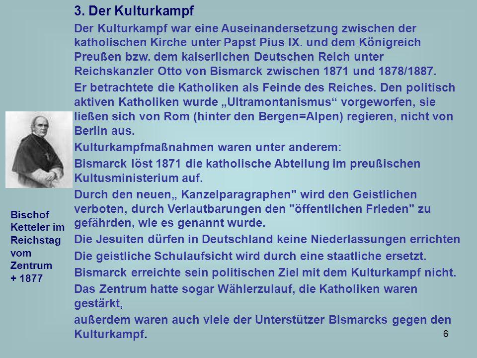 3. Der Kulturkampf
