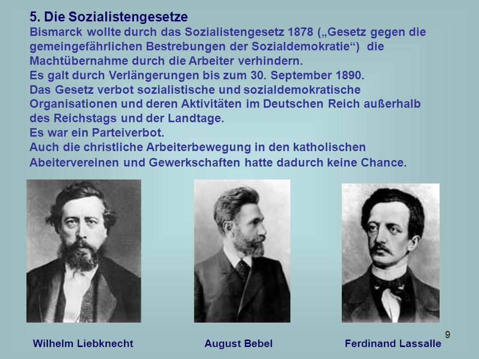 5. Die Sozialistengesetze