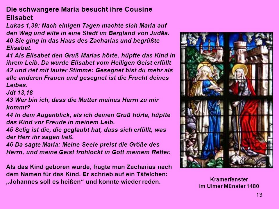 Kramerfenster im Ulmer Münster 1480