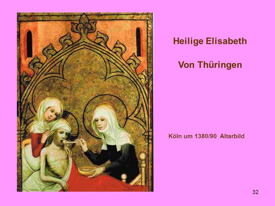 Heilige Elisabeth Von Thüringen Köln um 1380/90 Altarbild