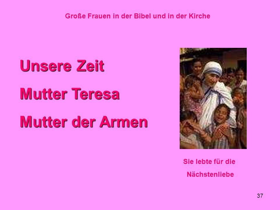 Große Frauen in der Bibel und in der Kirche