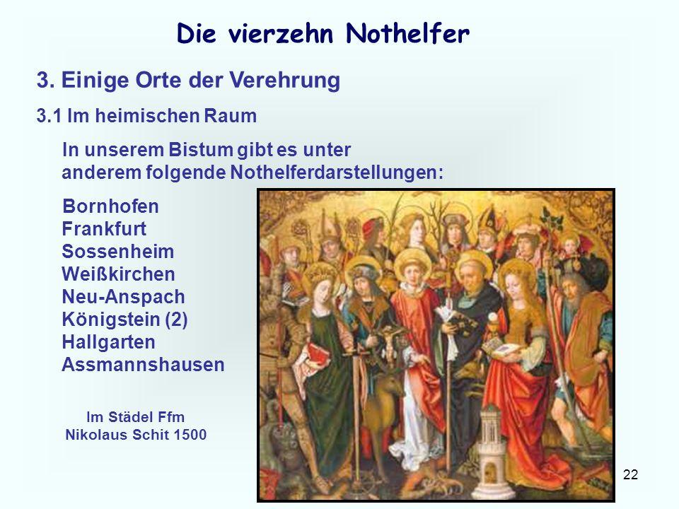 Die vierzehn Nothelfer Im Städel Ffm Nikolaus Schit 1500