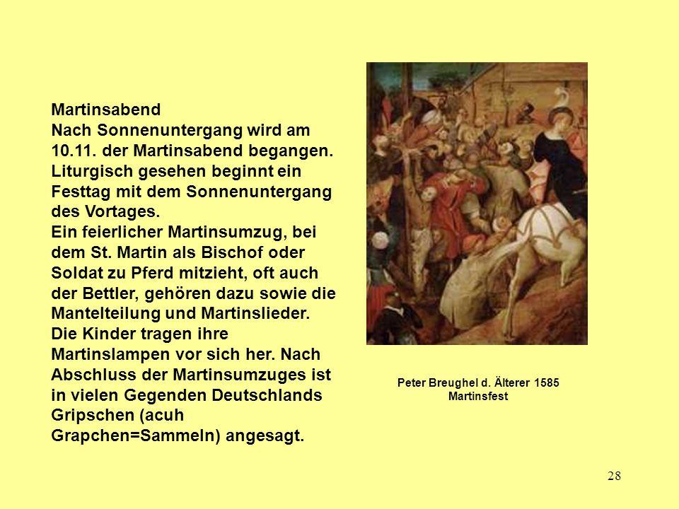 Peter Breughel d. Älterer 1585 Martinsfest