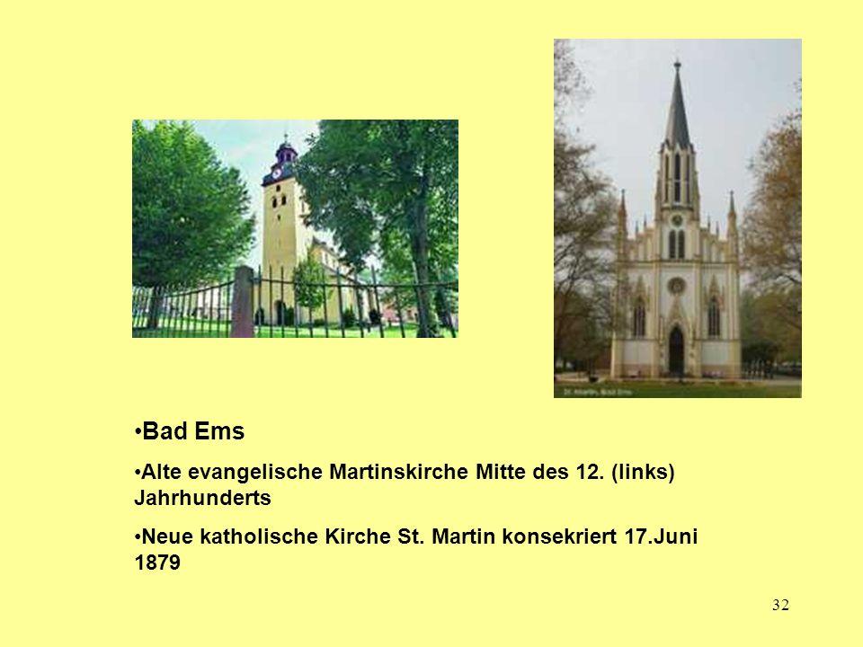 Bad Ems Alte evangelische Martinskirche Mitte des 12.