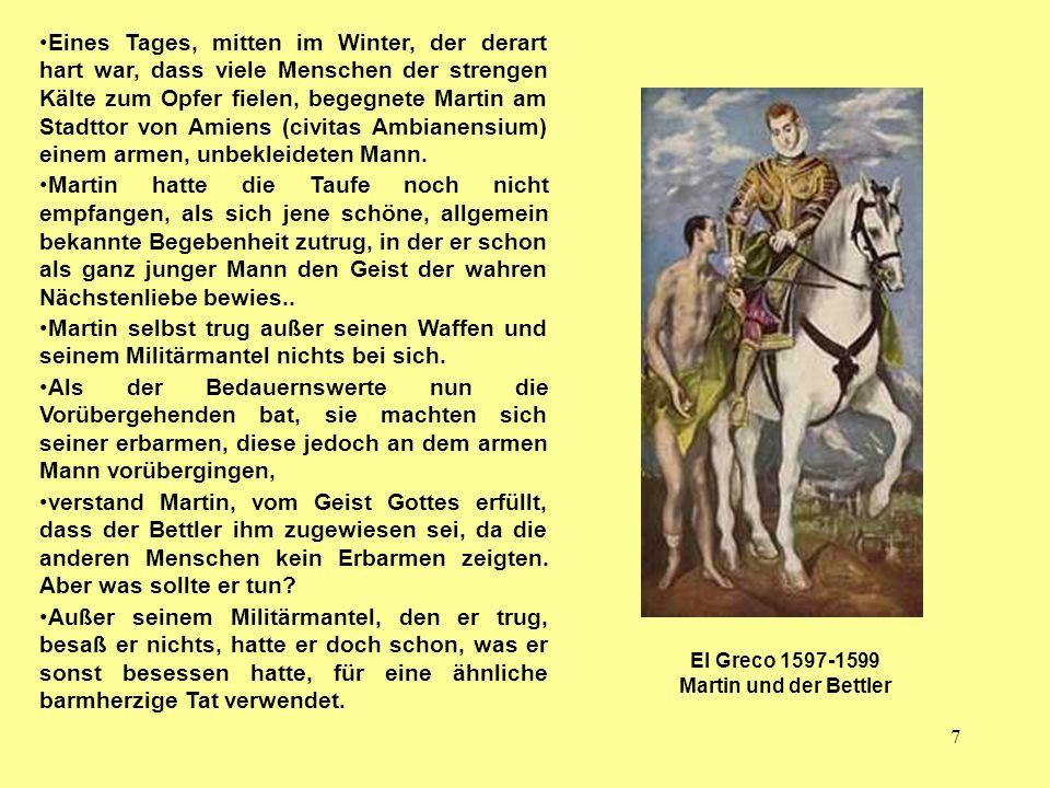 El Greco 1597-1599 Martin und der Bettler