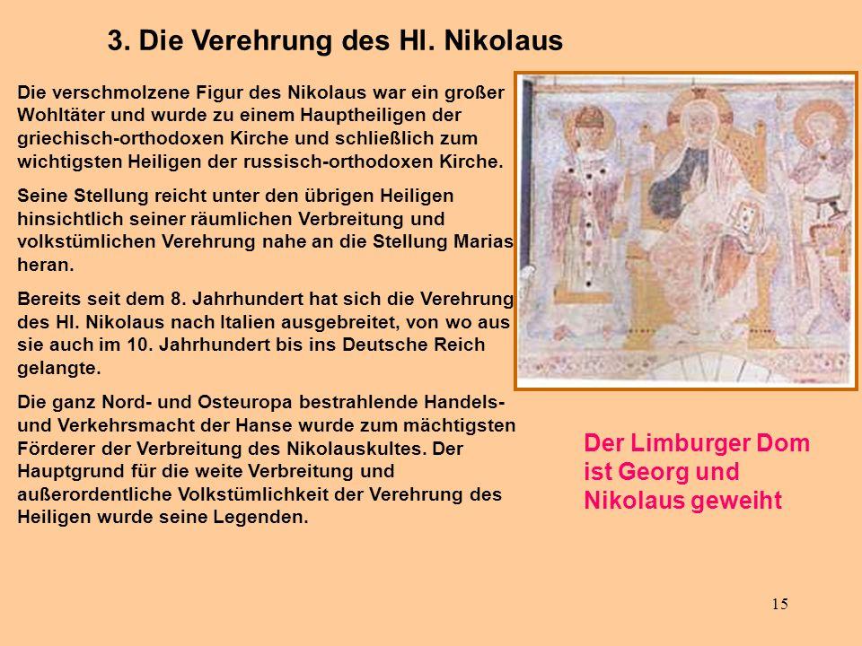 3. Die Verehrung des Hl. Nikolaus