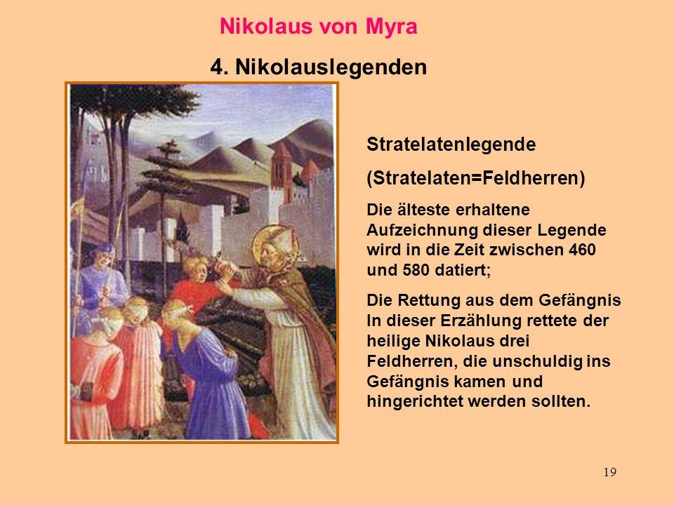 Nikolaus von Myra 4. Nikolauslegenden