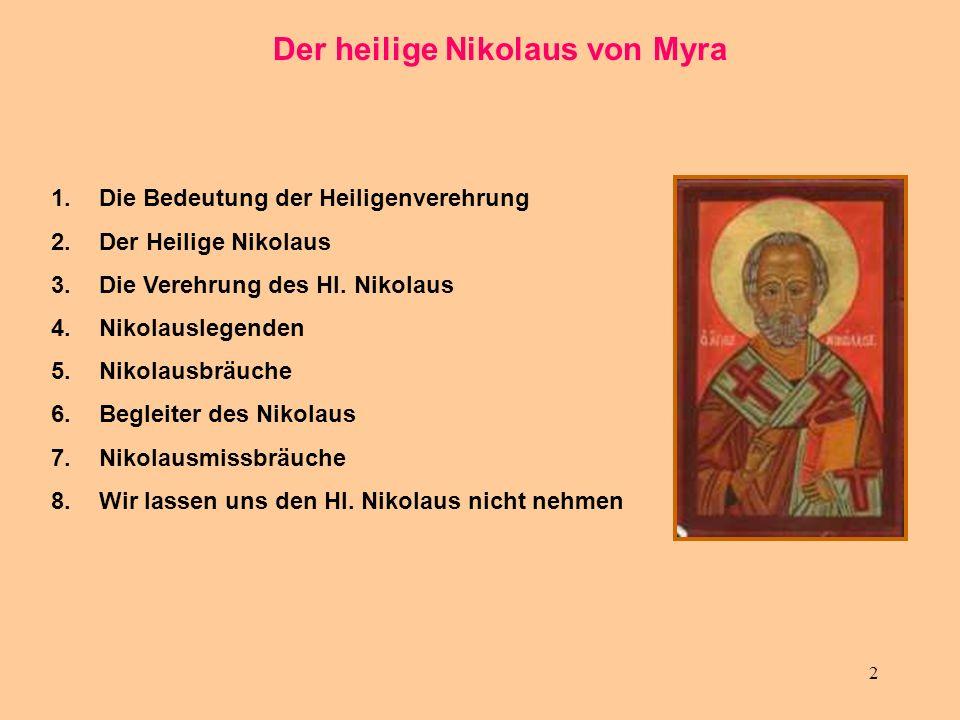 Der heilige Nikolaus von Myra