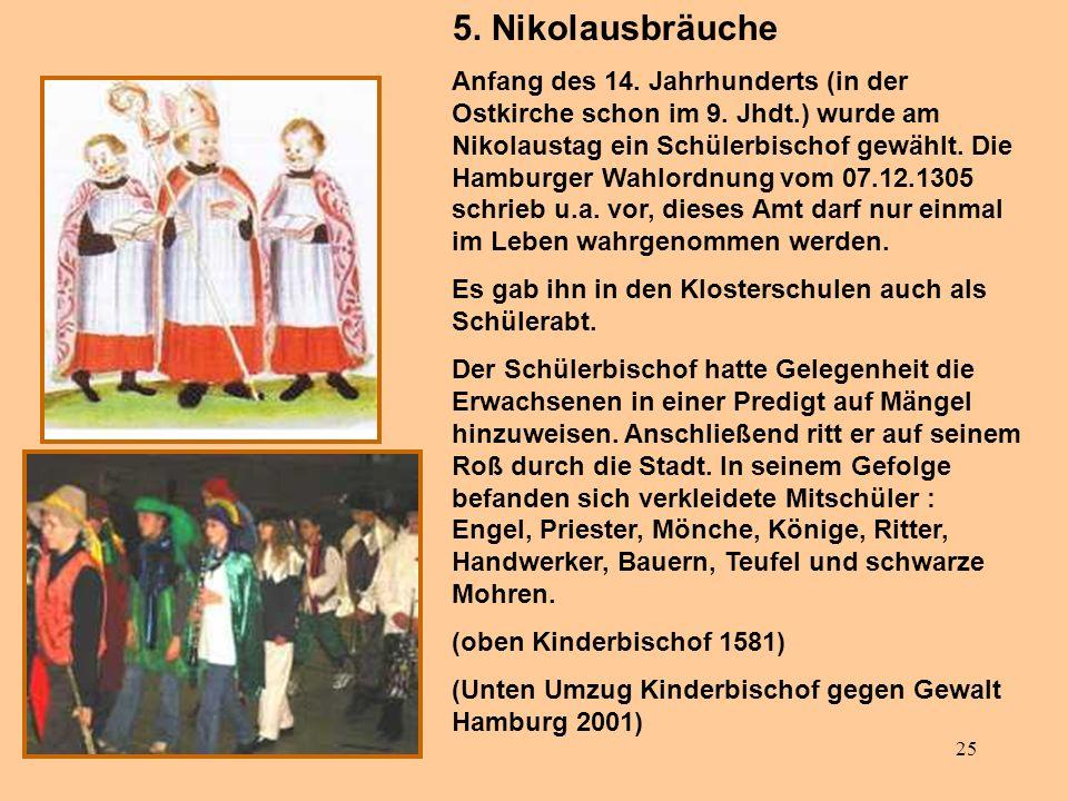 5. Nikolausbräuche