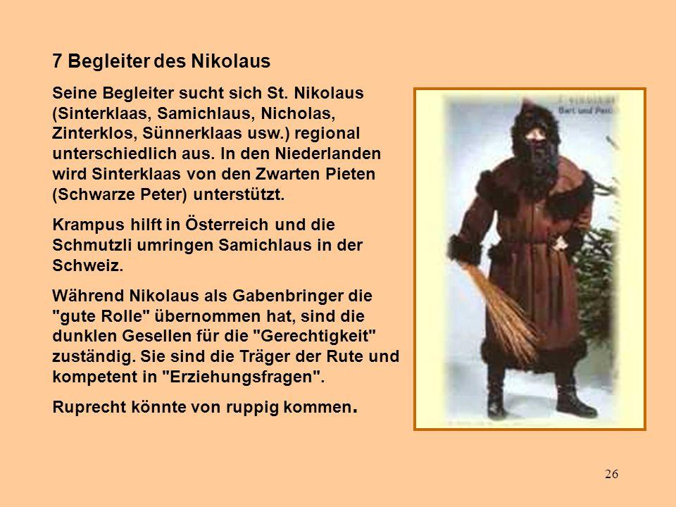 7 Begleiter des Nikolaus