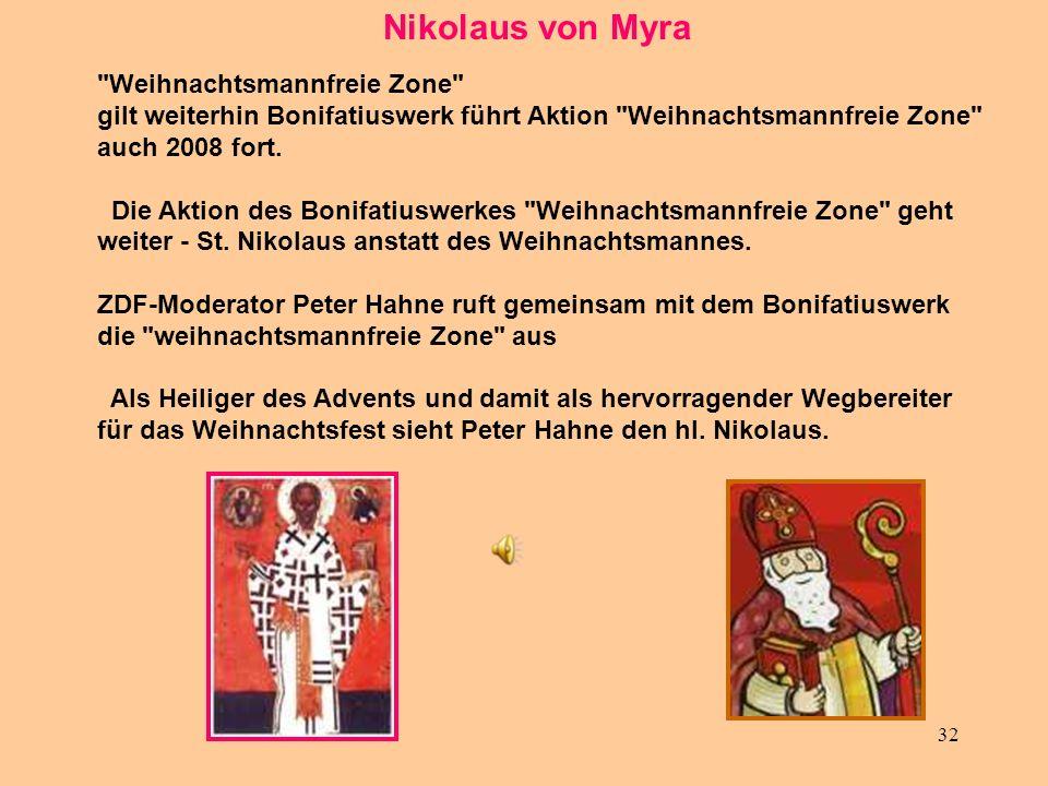 Nikolaus von Myra Weihnachtsmannfreie Zone