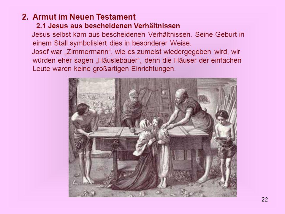 2. Armut im Neuen Testament