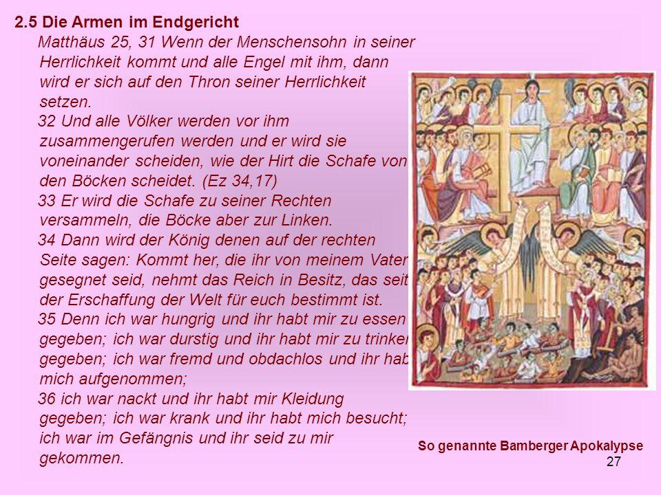 So genannte Bamberger Apokalypse