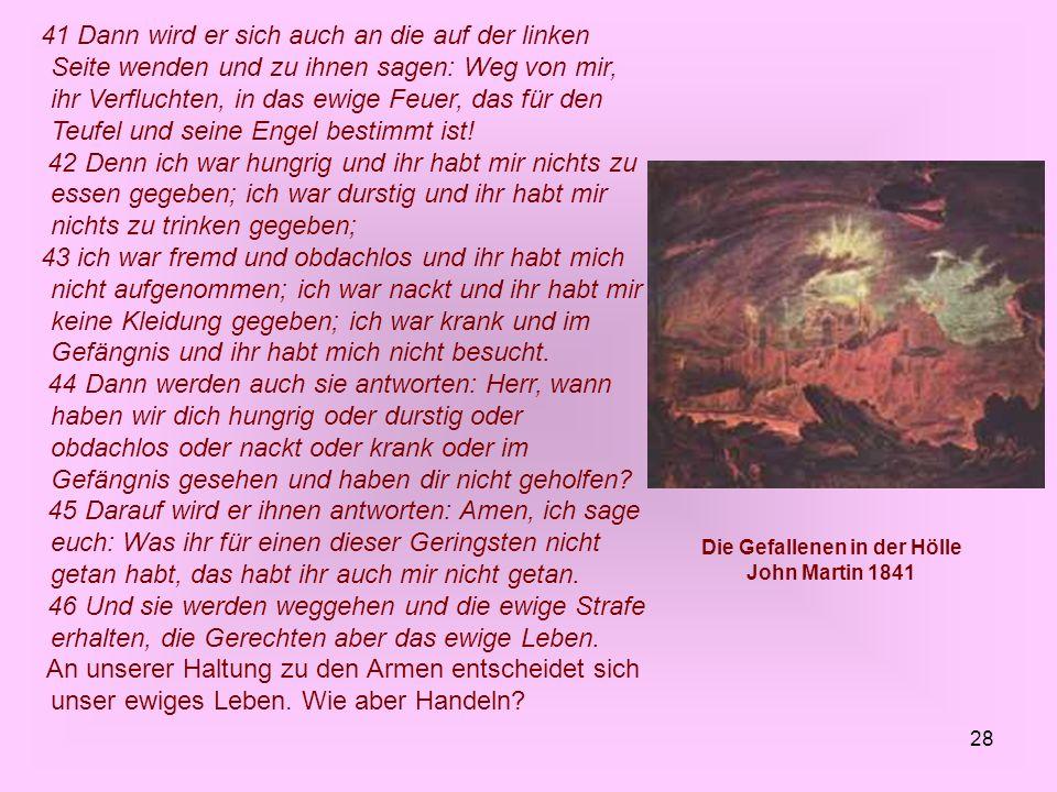 Die Gefallenen in der Hölle John Martin 1841