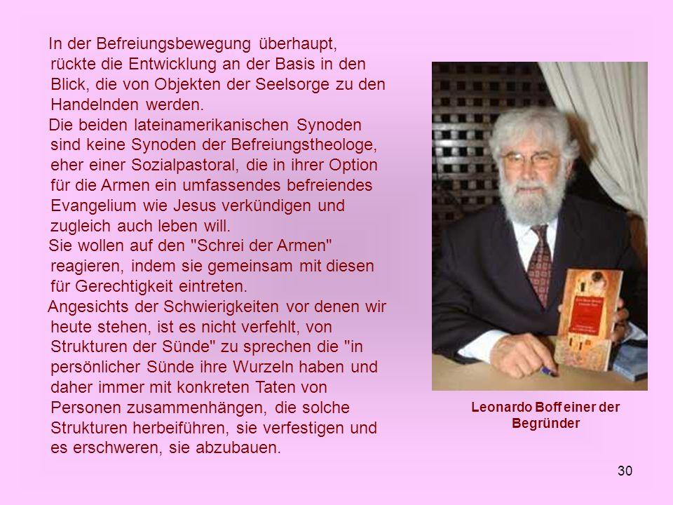 Leonardo Boff einer der Begründer