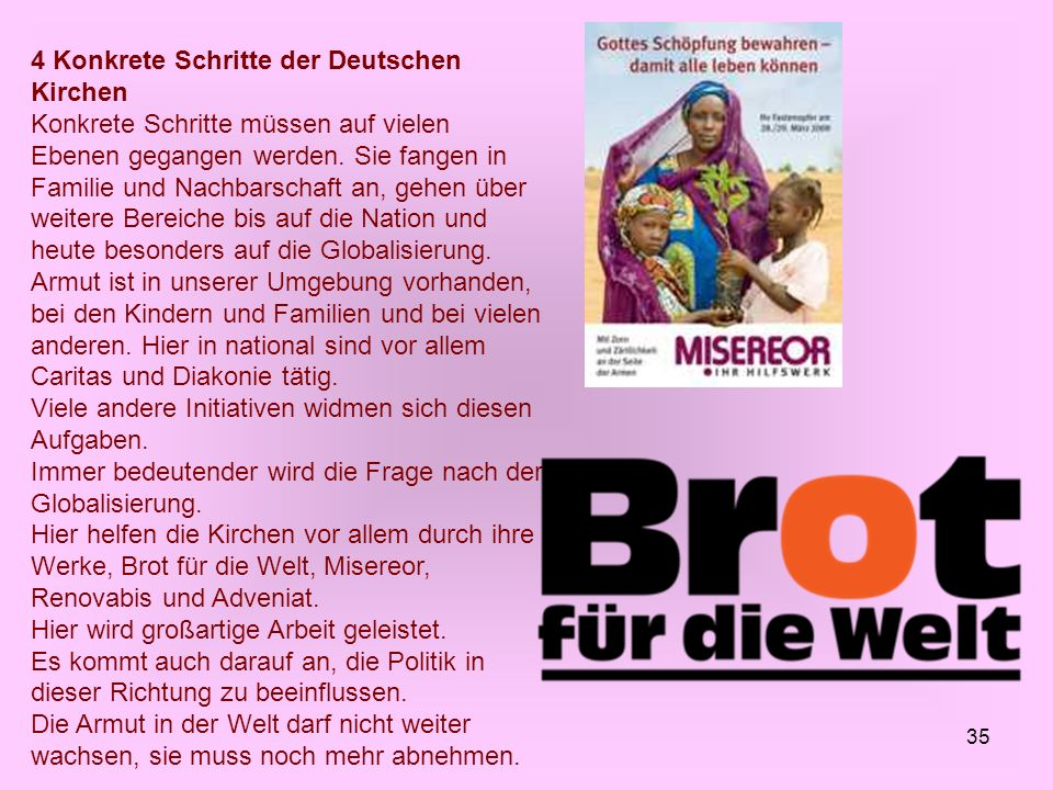 4 Konkrete Schritte der Deutschen Kirchen
