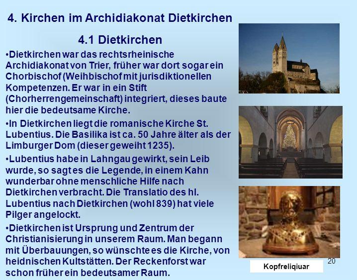 4. Kirchen im Archidiakonat Dietkirchen