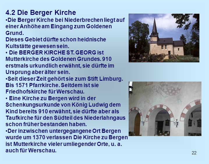 4.2 Die Berger Kirche