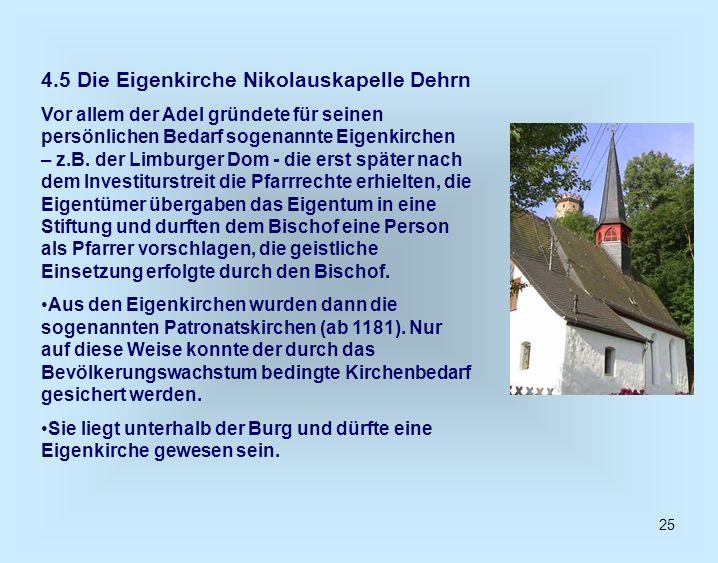 4.5 Die Eigenkirche Nikolauskapelle Dehrn