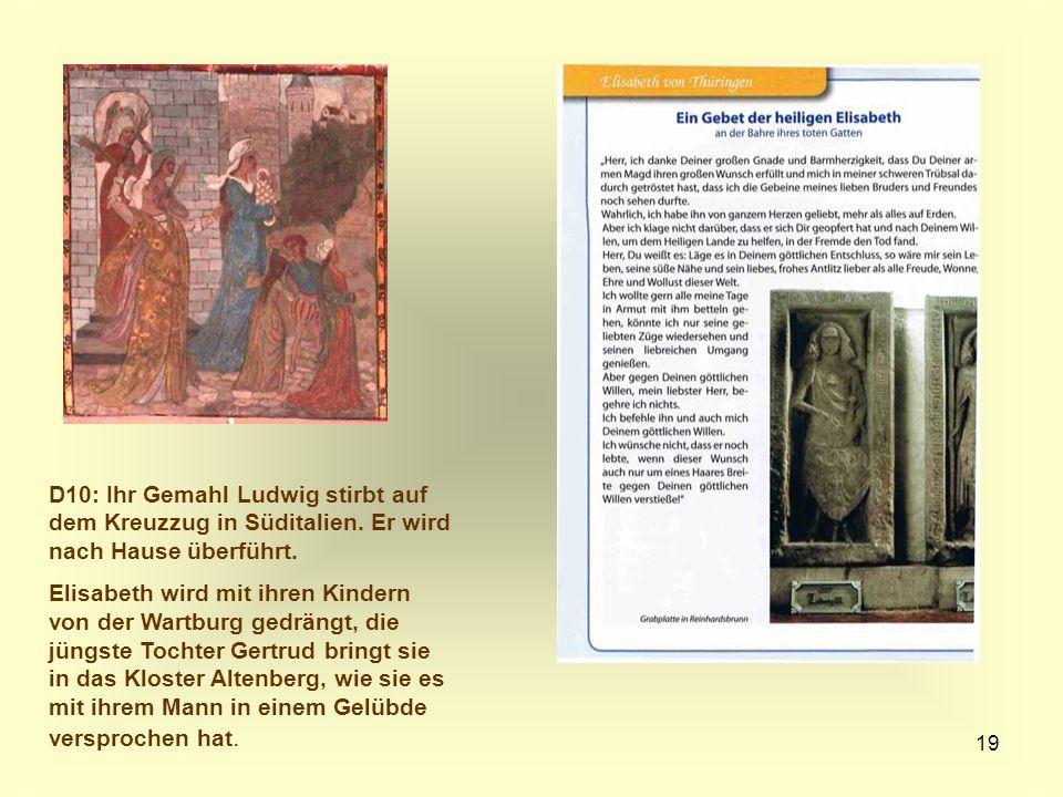 D10: Ihr Gemahl Ludwig stirbt auf dem Kreuzzug in Süditalien