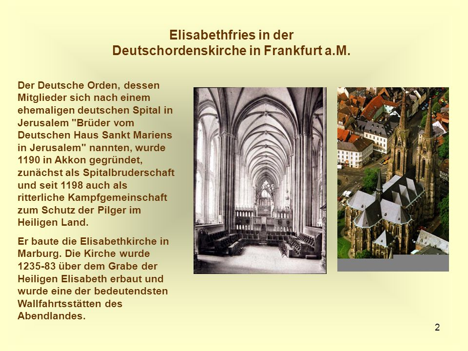 Elisabethfries in der Deutschordenskirche in Frankfurt a.M.