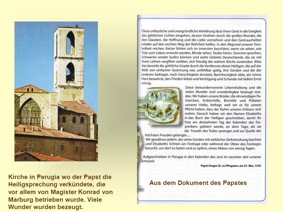 Aus dem Dokument des Papstes