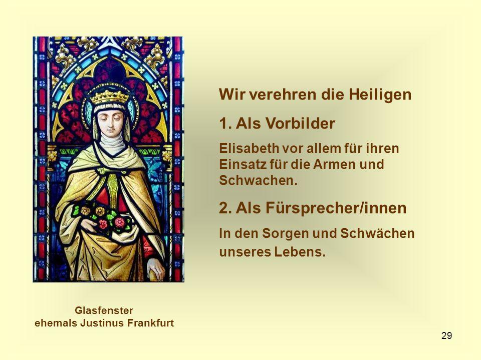 Glasfenster ehemals Justinus Frankfurt