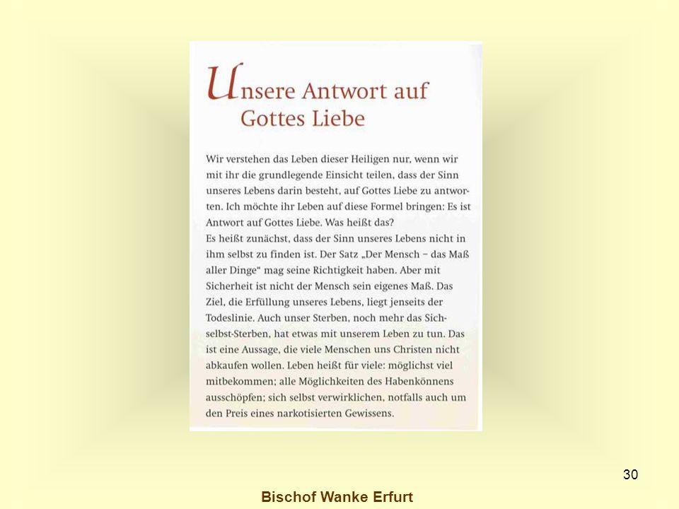 Bischof Wanke Erfurt