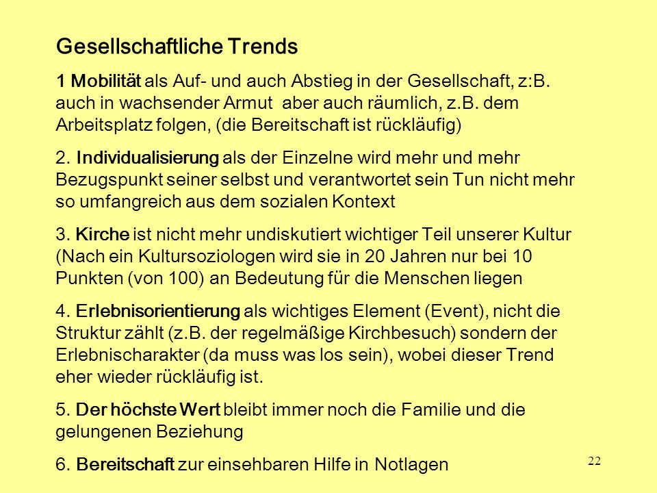 Gesellschaftliche Trends