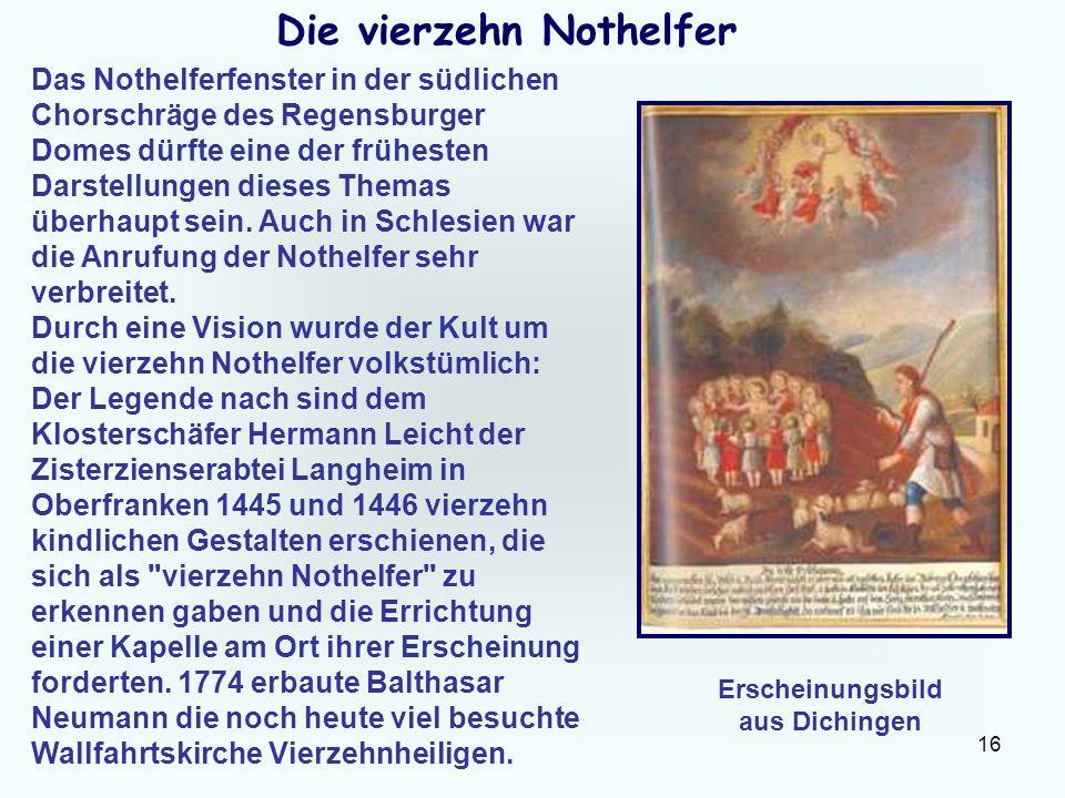 Die vierzehn Nothelfer Erscheinungsbild aus Dichingen