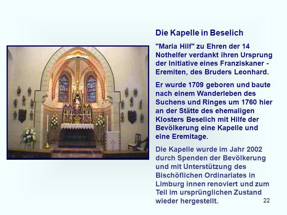 Die Kapelle in Beselich