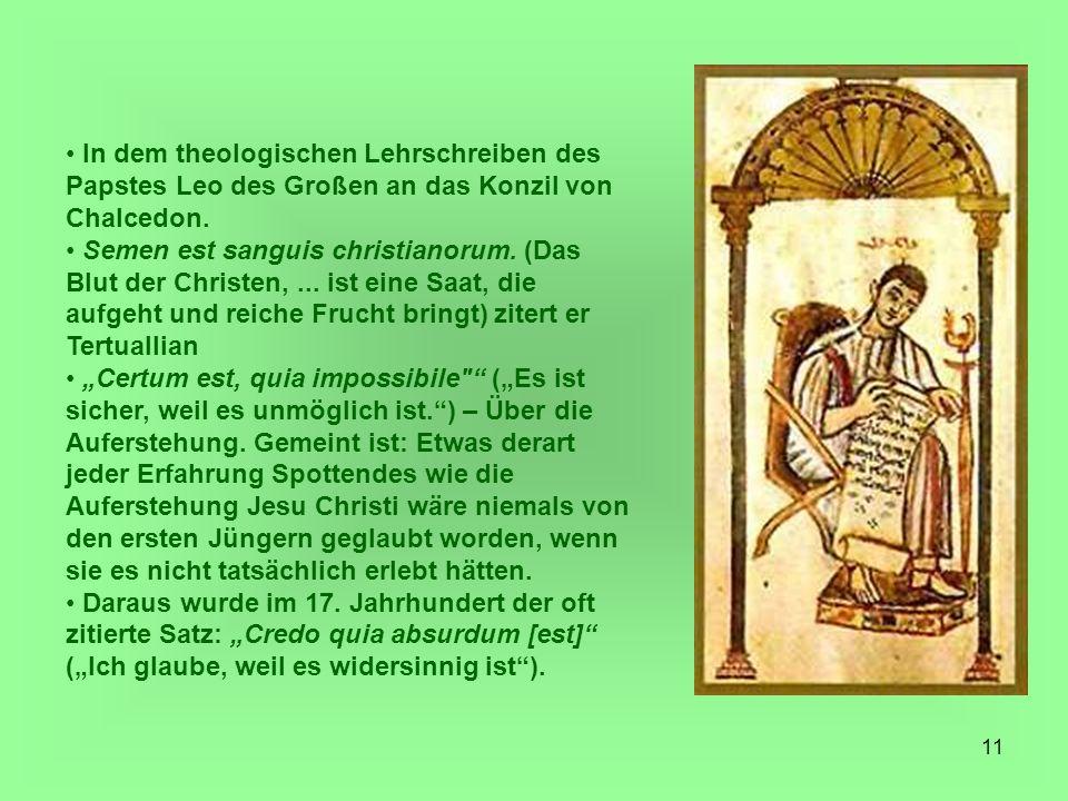 In dem theologischen Lehrschreiben des Papstes Leo des Großen an das Konzil von Chalcedon.