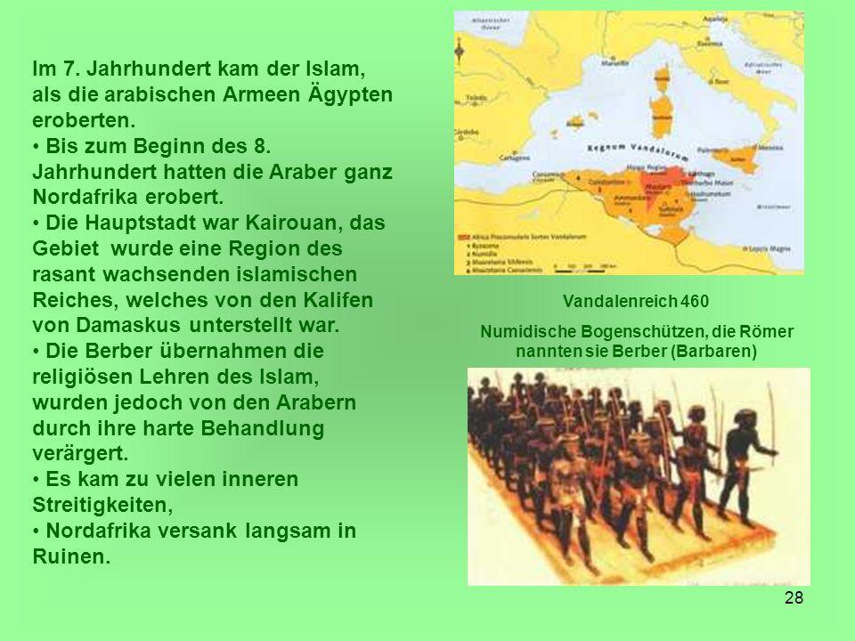 Numidische Bogenschützen, die Römer nannten sie Berber (Barbaren)