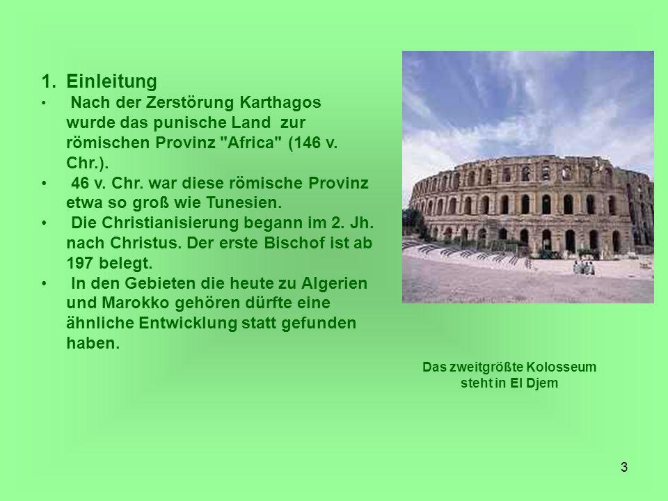 Das zweitgrößte Kolosseum steht in El Djem
