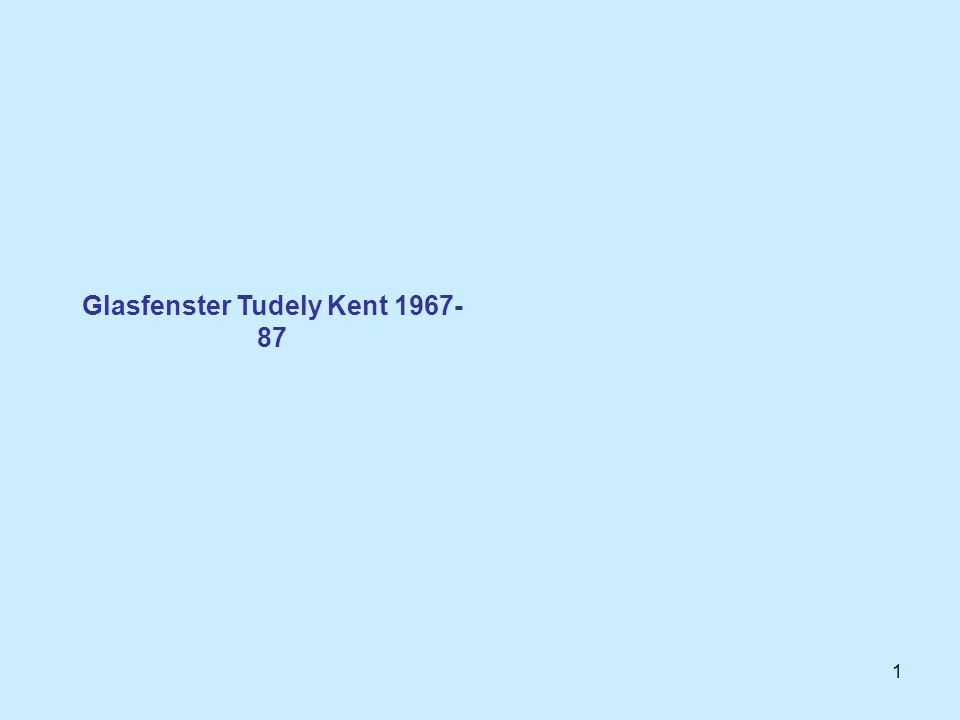 Glasfenster Tudely Kent 1967-87