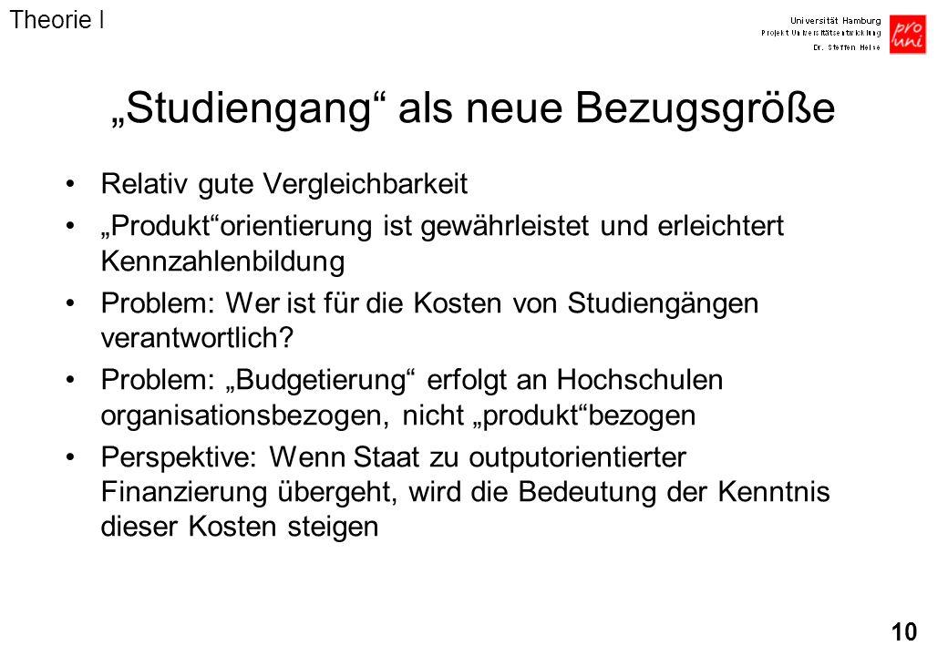 """""""Studiengang als neue Bezugsgröße"""